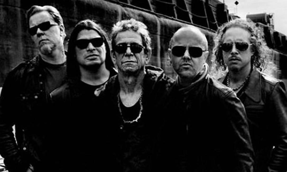 Lou Reed e Metallica Reprodução