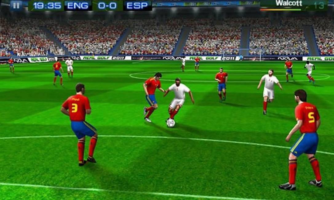 O game Real FootBall 2011, para iPad