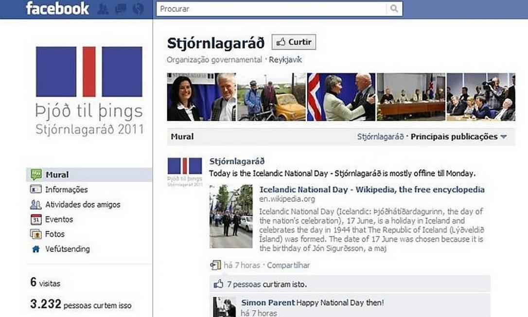 Página de debate da nova Constituição no FacebookReprodução
