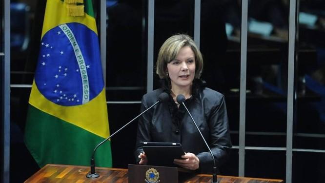 A ministra da Casa Civil, Gleisi Hoffman em foto da Agência Brasil