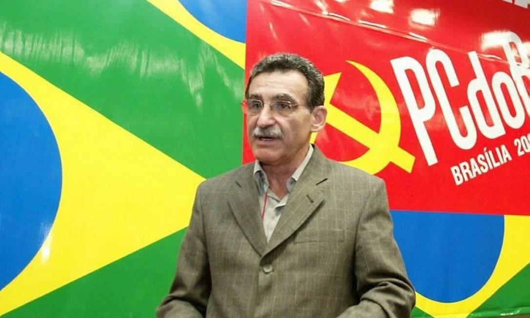 O presidente do PCdoB Renato Rabelo em foto de Ailton de Freitas