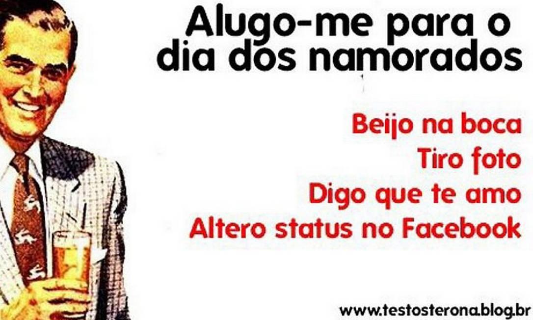 Campanha criada pelo blog Testosterona ganhou 5 mil adeptos no Facebook. Foto: reprodução