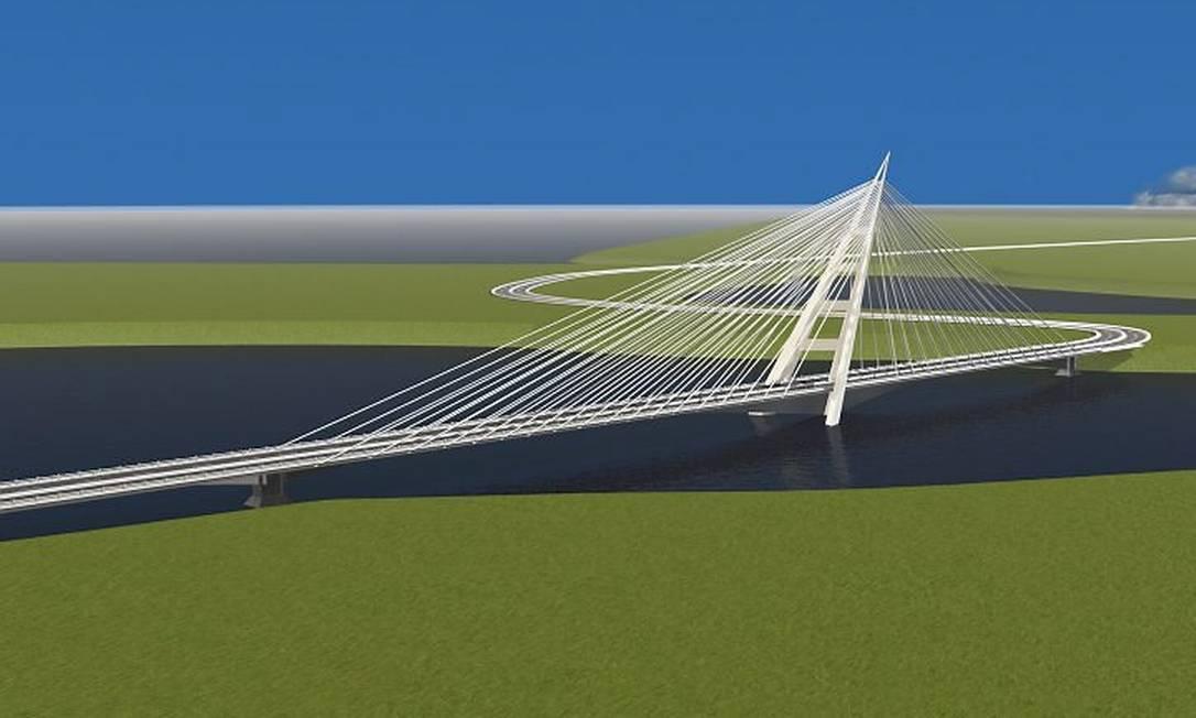 Transcarioca: ponte estaiada que será construída no segundo lote da obra (Foto: divulgação)