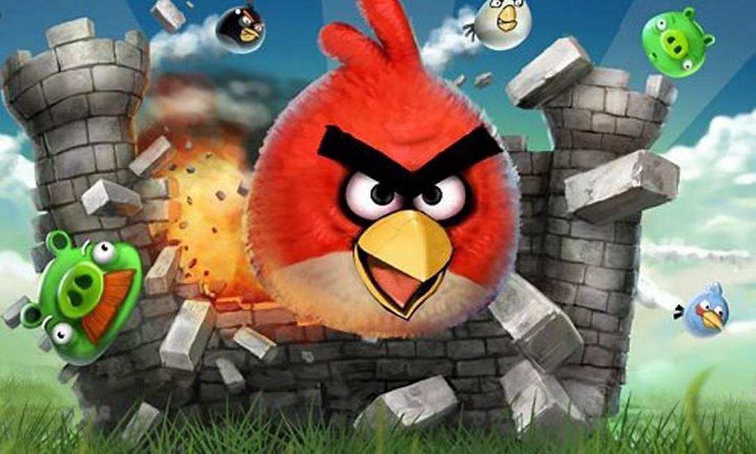 O jogo-sensação dos iPhones Angry Birds: aparentemente inofensivos, esses passarinhos violam a privacidade de milhões de pessoas Divulgação