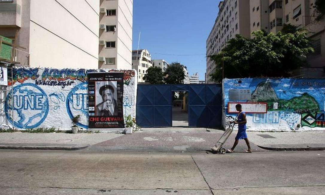 Terreno onde será construída a nova sede da UNE na Praia do Flamengo, no Rio. Foto: Arquivo Hudson Pontes
