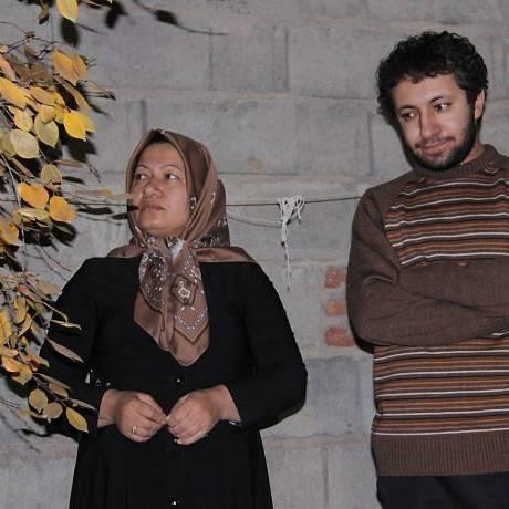 Sakineh e o filho nas imagens divulgadas pela TV estatal