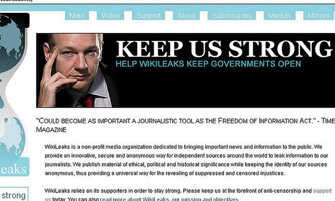 Site do WikiLeaks AFP