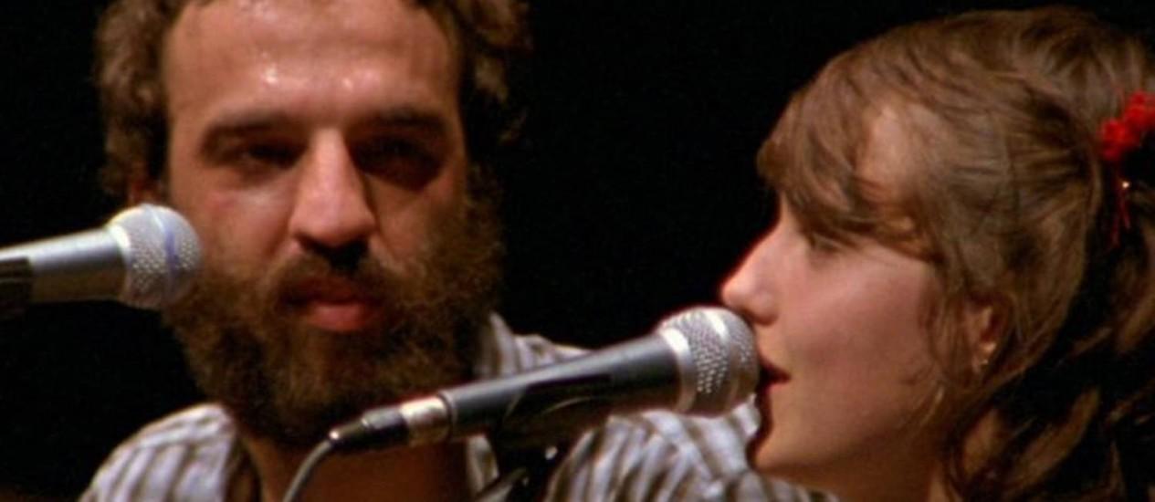 Marcelo Camelo e Mallu Magalhães no DVD do cantor Foto Divulgação