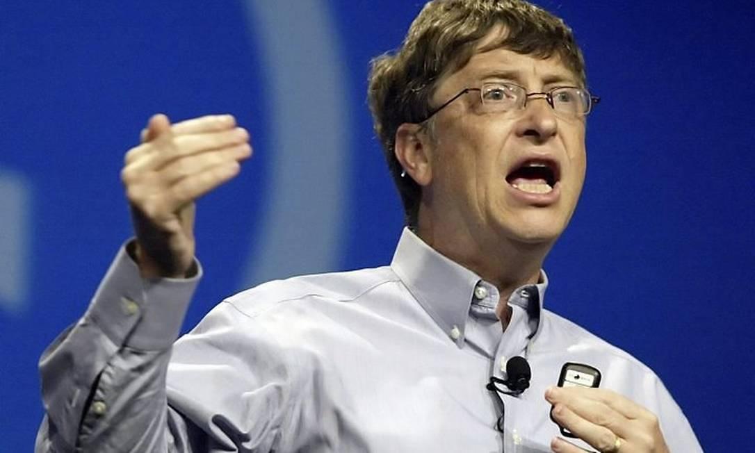 Bill Gates, fundador da Microsoft, é citado como um líder introvertido de sucessoFoto: AFP