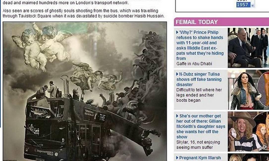 Artista muçulmano faz obra angelical sobre terroristas que atacaram Londres e provoca revolta Reprodução