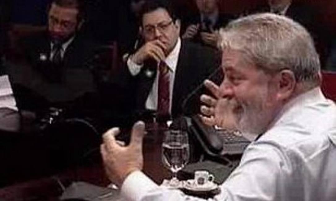 Lula participa de entrevista com blogueiros transmitida pela internet. Foto: reprodução