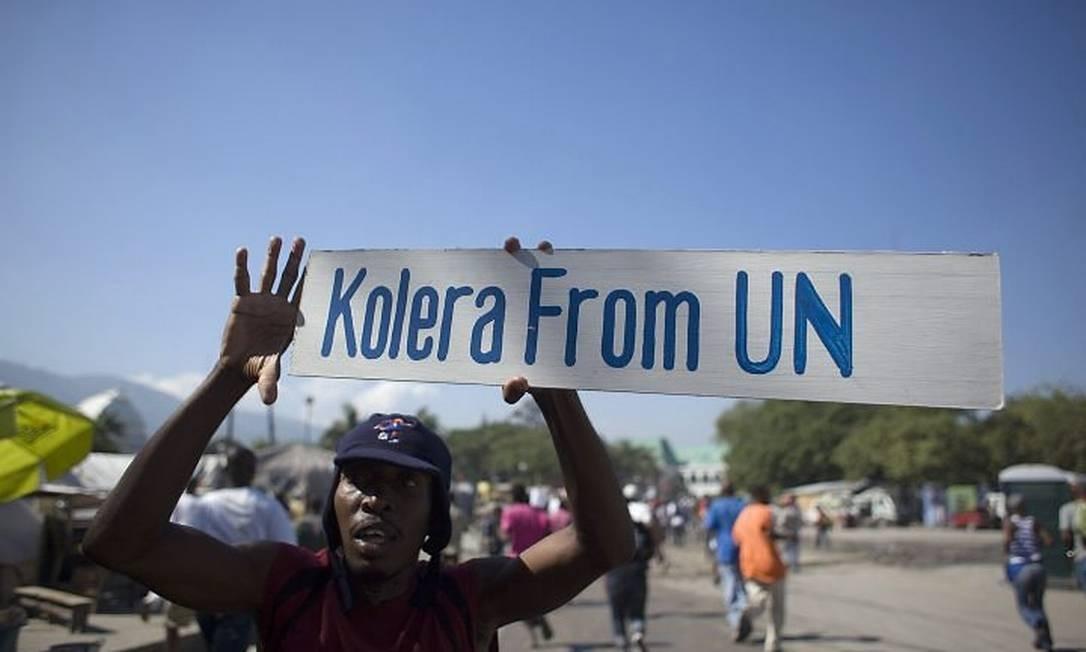 Protestos na capital Porto Príncipe AFP