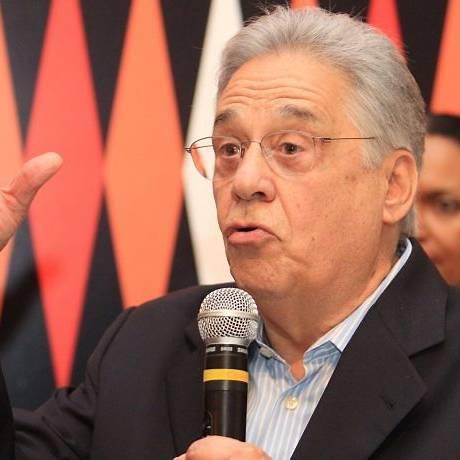 O ex-presidente Fernando Henrique Cardoso, em São Paulo, no lançamento do livro 'A mão afro-brasileira'Foto de Eliária Andrade