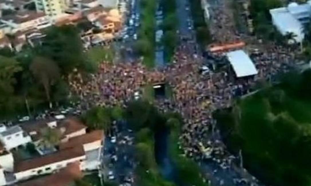 Reprodução de imagem da festa - TV Globo