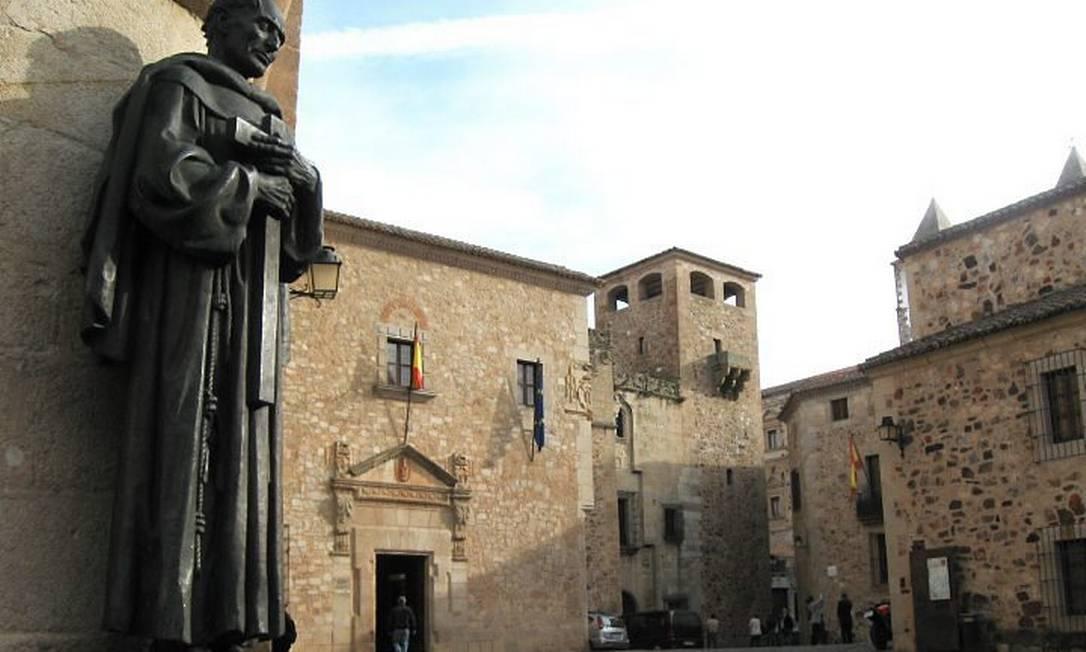 Detalhe da Concatedral de Santa Maria, um dos pontos altos de Cáceres Foto: Eduardo Maia / O Globo