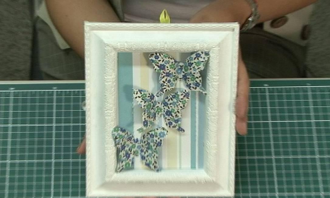 Aprenda a fazer uma moldura com borboletasImagem: Reprodução vídeo