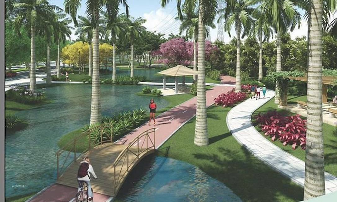 Projeto de parque para Madureira. Foto: DivulgaçãoPrefeitura do Rio