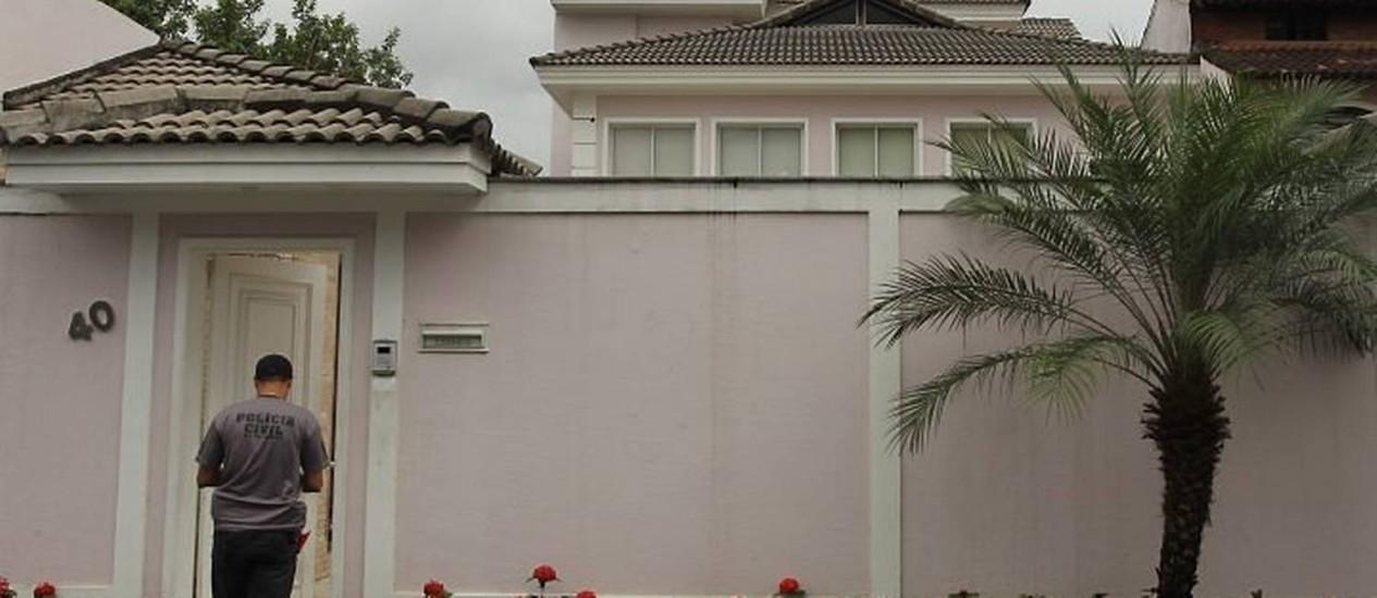 Casa onde vive a mulher de Elias Maluco, Silvânia Fernandes. Foto: Gabriel de Paiva - O Globo