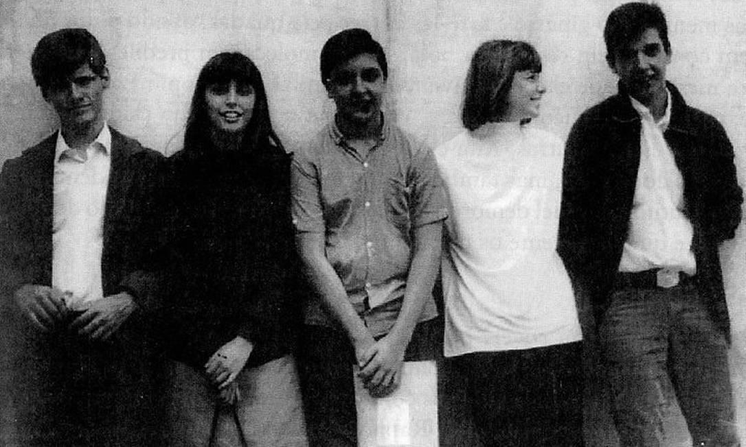 A formação de O'Seis, com Rita, Sérgio e Arnaldo Reprodução