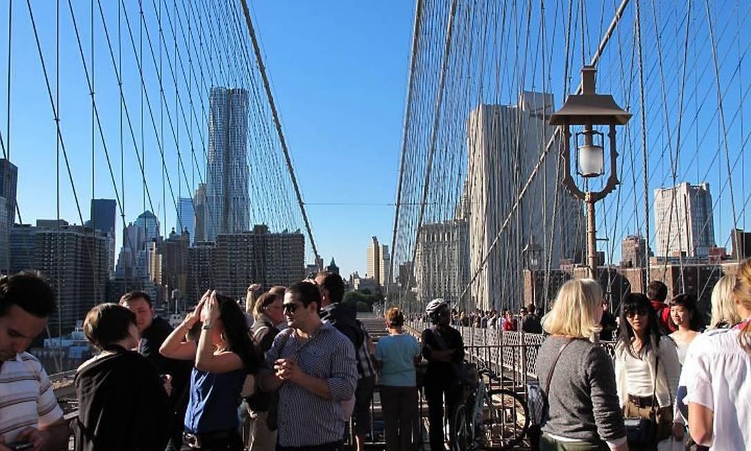 Caminhar pela Ponte do Brooklyn: um dos melhores programas da estação Foto: Fernanda Godoy