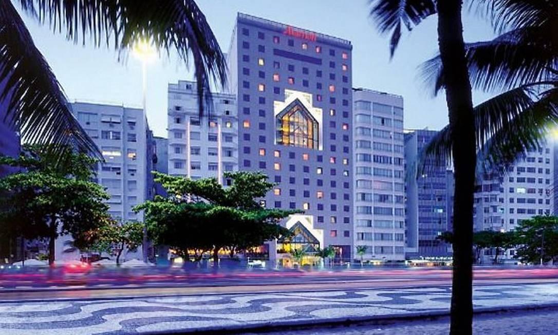O hotel JW Marriot, em Copacabana Divulgação
