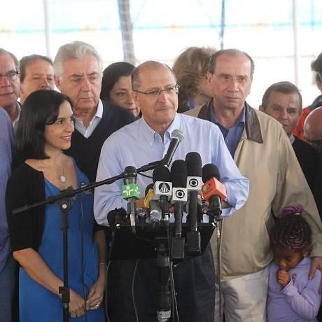 Alckmin: pela terceira vez no Palácio dos Bandeirantes - Foto Eliária AndradeO Globo