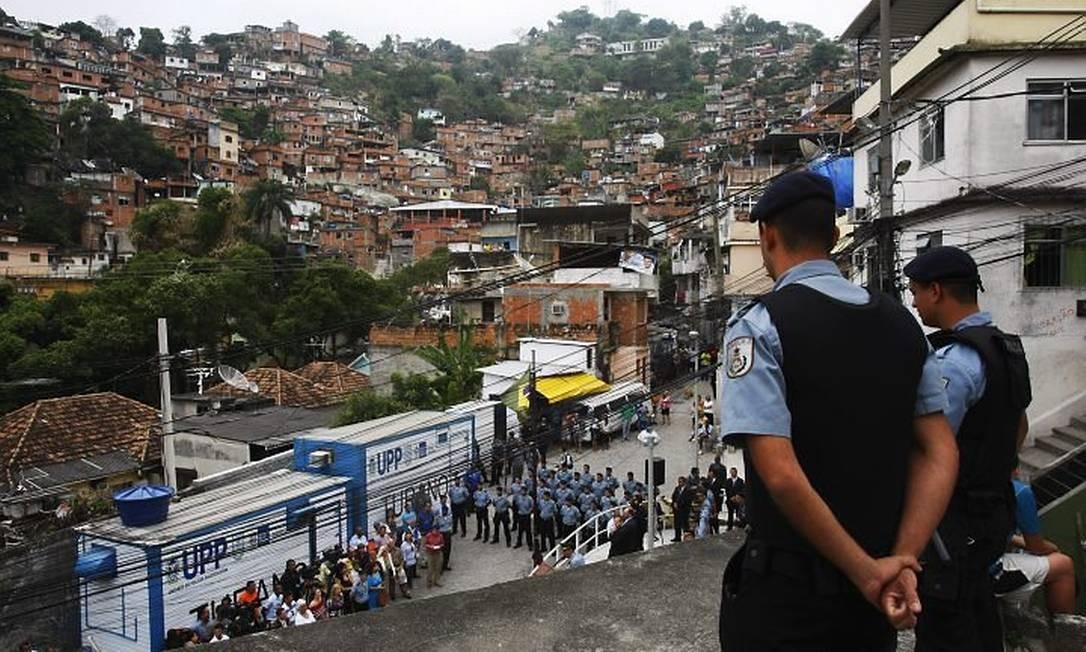 A 12ª UPP do estado foi inaugurada no Morro do Turano, no Rio Comprido. Foto: André Teixeira - O Globo