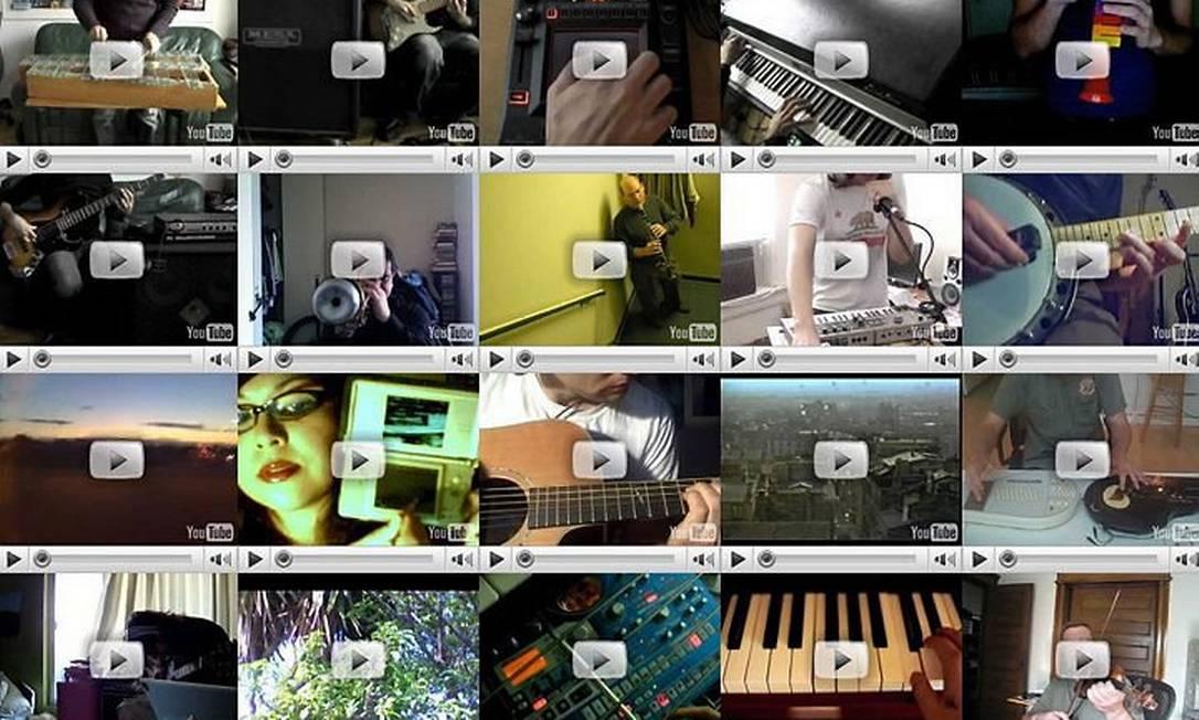 Colagens musicais na internet Divulgação