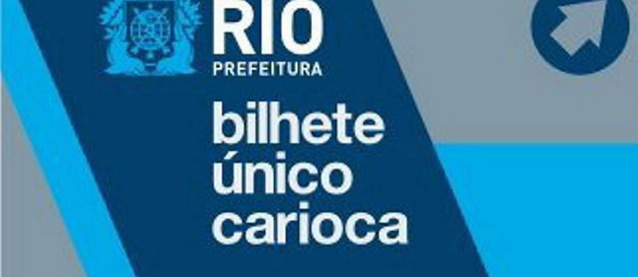 Bilhete Único Carioca. Foto: Divulgação
