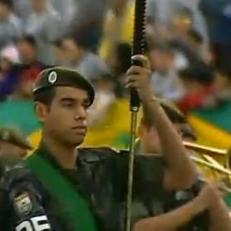 Exército desfilou no Anhembi, em São Paulo - Reprodução TV Globo