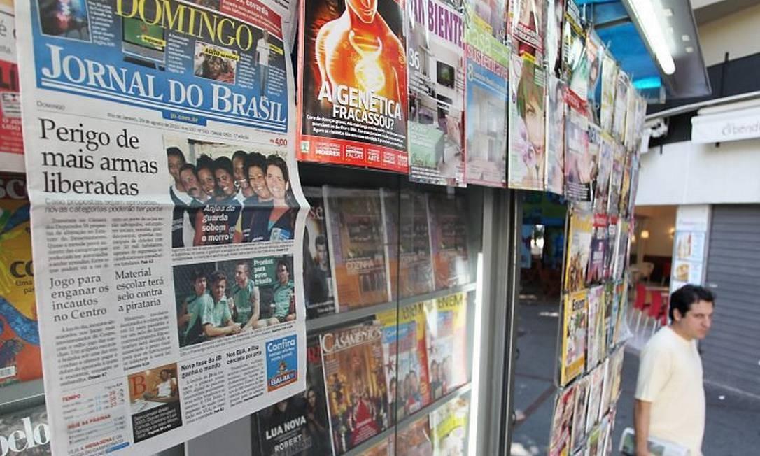 O último exemplar impresso do 'Jornal do Brasil' chegou às bancas no domingo. Na segunda e na terça-feira, chegou apenas aos assinantes Márcia Foletto