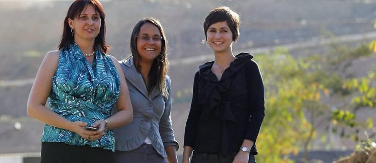 Luzia, Adriana e Priscila: aterro em Seropédica vai tratar o lixo do Rio e de outras cidades fluminenses Custódio Coimbra