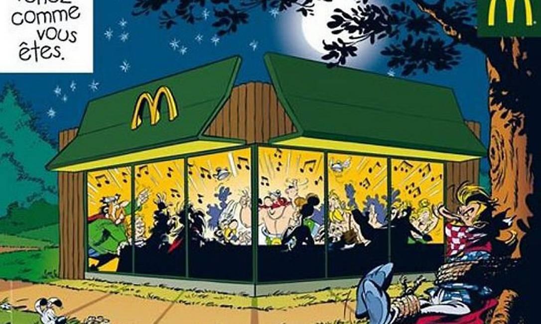 Asterix em propaganda do McDonald's enfurece franceses Reprodução