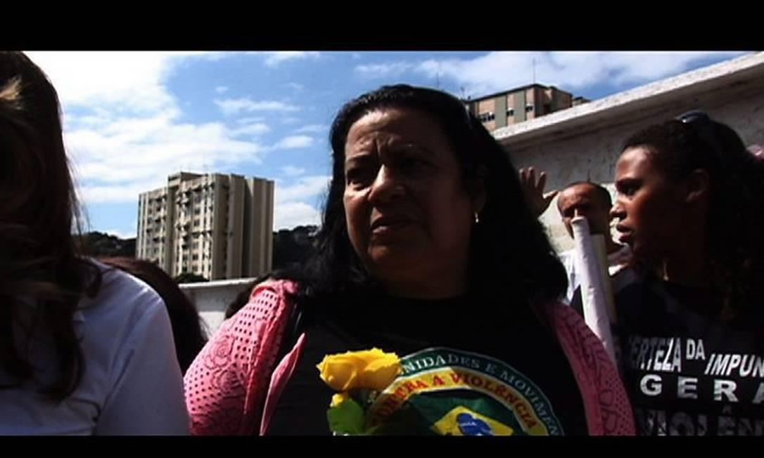 Uma das mães que fazem parte do documentário 'Luto de mãe'Divulgação