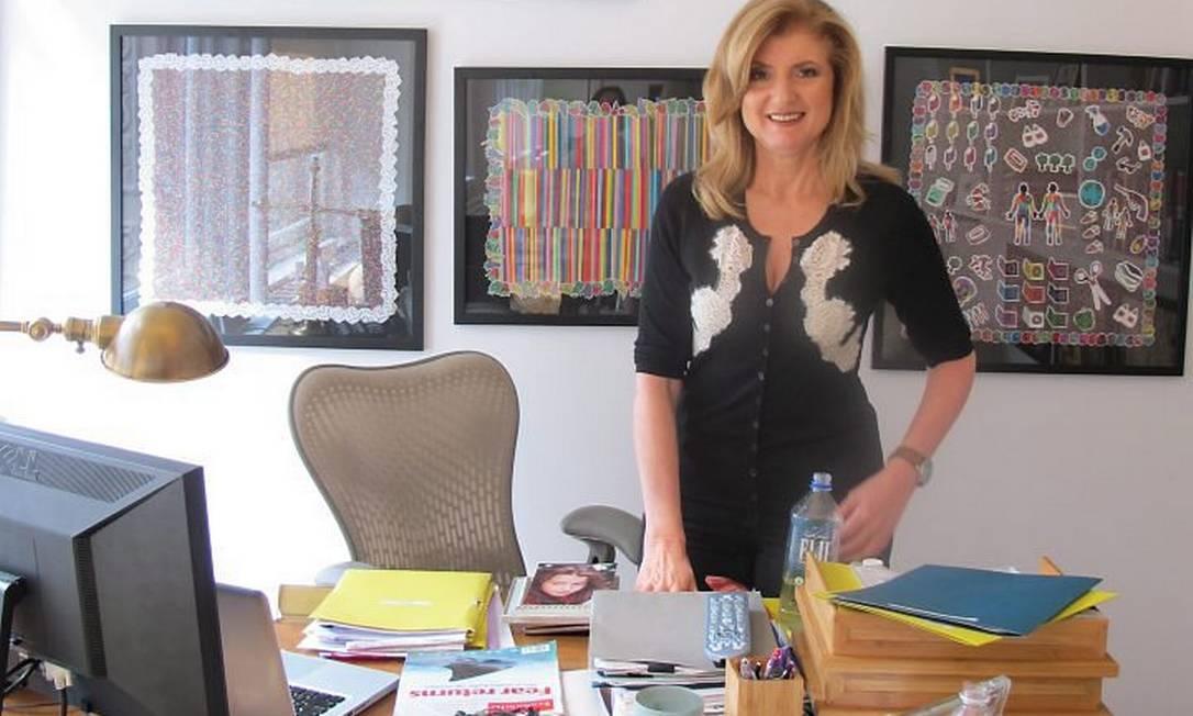Arianna Huffington em seu escritório em Nova York. Crédito: Fernanda Godoy