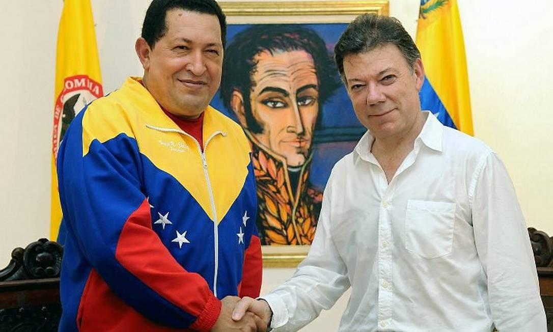 Chávez e Santos AFP