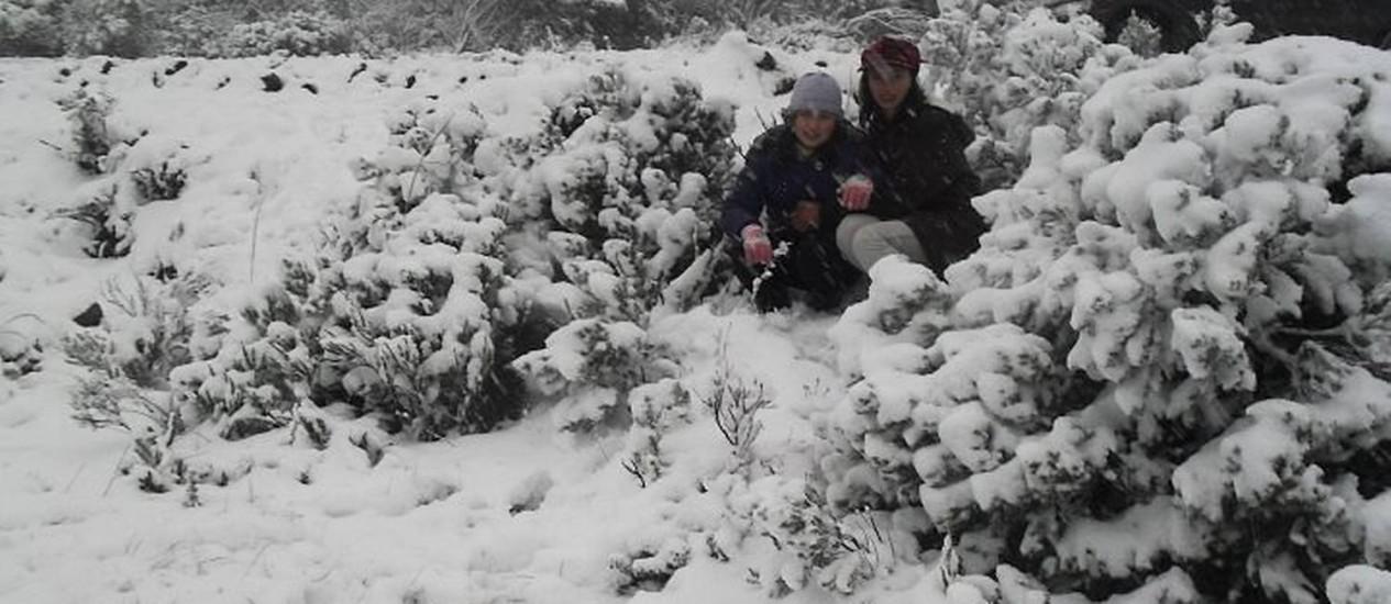 Neve em urupema chegou a 25 centímetros - Divulgação prefeitura de Urupema