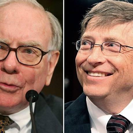 Warrem Buffet e Bill Gates também doaram parte da fortuna paar caridade Foto: AP
