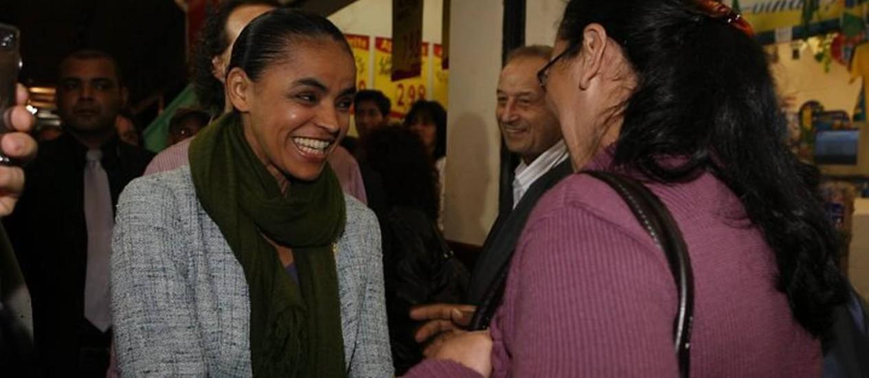 Candidata do PV à Presidência da República, Marina Silva, em PetropólisFoto: Marcos Tristão