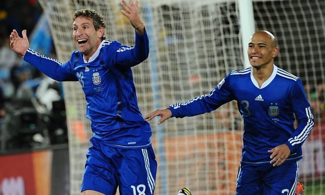 Palermo comemora gol contra a Grécia AFP