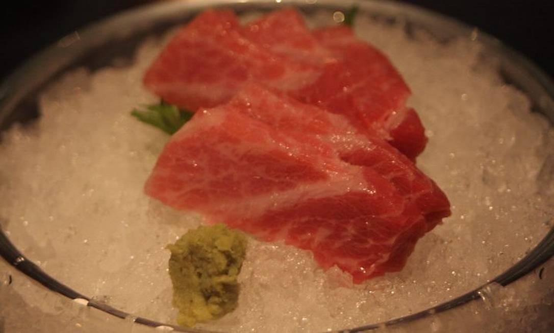 Toro do restaurnate japonês Wa, em Orlando: a barriga gorda do atum é um clássico Foto: Bruno Agostini
