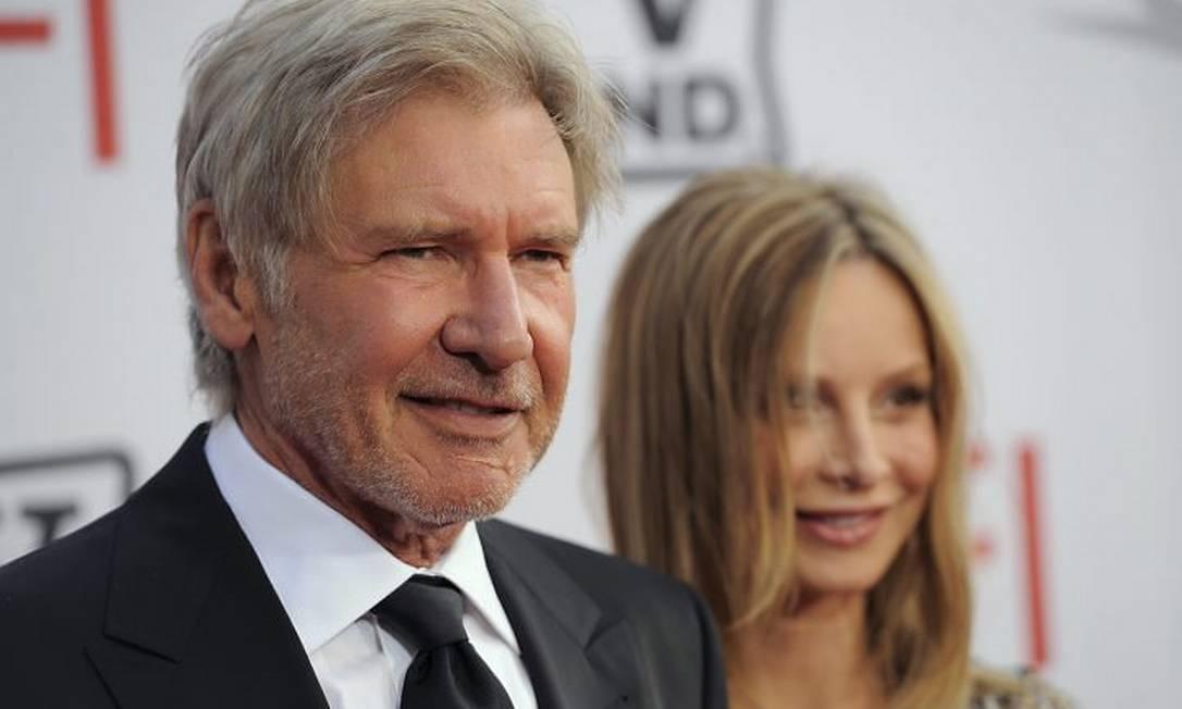 O casal de atores Harrison Ford e Calista Flockhart