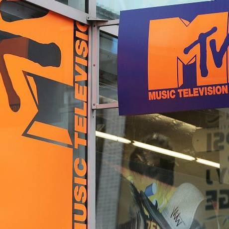 Fachada do estúdio da MTV na Times Square, em New York AP