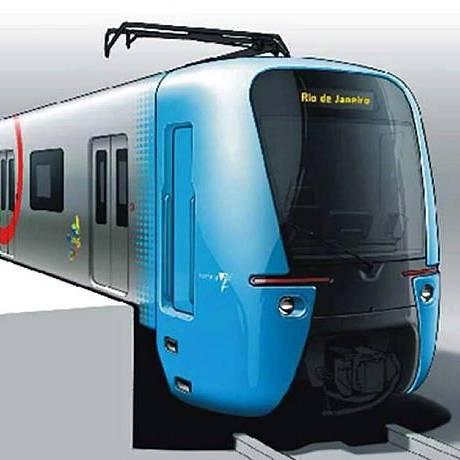 SuperVia vai ganhar trens com design futurista. Foto: divulgação