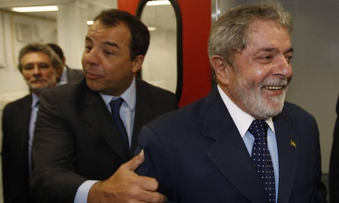 Cabral e Lula durante a inauguração da UPA - Foto de Domingos Peixoto