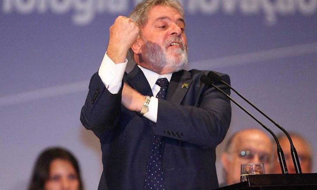 O presidente Lula discursa durante a IV Conferência Nacional de Ciência, Tecnologia e Inovação - André Coelho O Globo