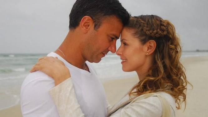 Leonardo e Bianca em cena da novela. Foto de divulgação
