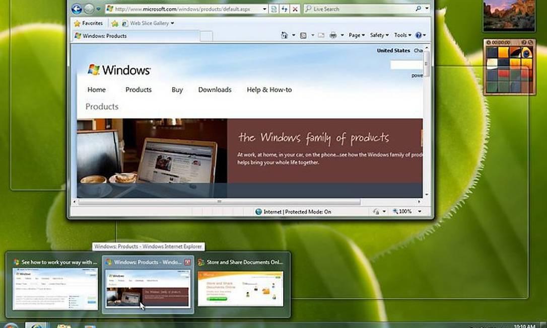 Desktop do Windows 7 Divulgação