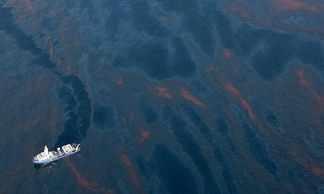 Um novo vazamento de petróleo coloca em risco várias espécies da costa do Golfo do México Foto AP