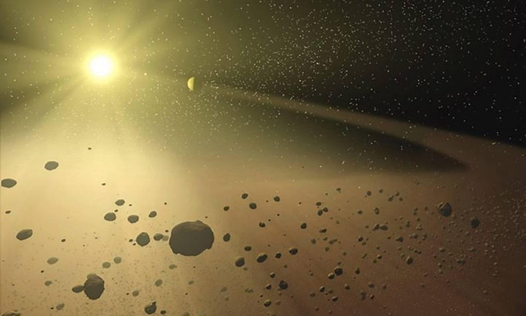 Imagem da Nasa, um asteroide Foto: Nasa